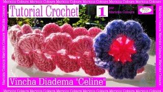 Download Vincha Bebé Diadema Banda ″Celine″ Crochet ( 1) por Maricita Colours Video