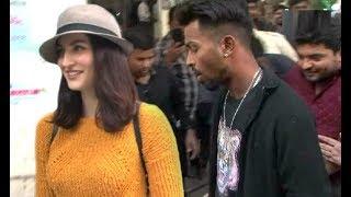 Download Elli Avram With Boyfriend Cricketer Hardik Pandya At Ad Shoot Video