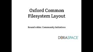 Download Oxford Common Filesystem Layout Webinar 1 Video