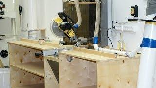 Download Building a miter saw workbench / Изготовление стола для торцовочной пилы Video