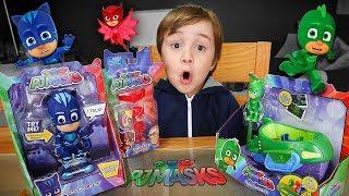 Download BRINQUEDOS DO PJ MASKS!! Menino Gato, Lagartixo e Corujita - Coleção PJ Mask Toys for Kids Video