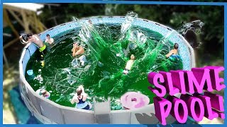 Download 😎SWIMMING IN A FAMILY SIZE POOL OF SLIME! 🤢 Video