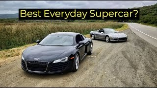 Download 2008 Audi R8 vs 1999 Acura NSX - Head to Head Review! Video