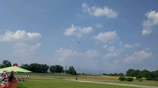 Download Huge $35000 1/3 scale Twin Turbine RC Jet crash and explosion Video