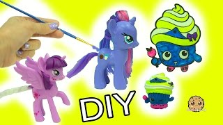 Download My Little Pony Custom Painting & Shopkins Limited Edition Cupcake Queen Inspired DIY Video