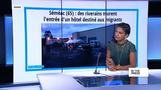 Download Building walls: French protesters block access to hotel migrant shelter Video