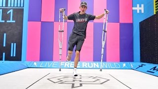 Download TRAMPOLINE TRICKS WITH BROKEN LEG! Video