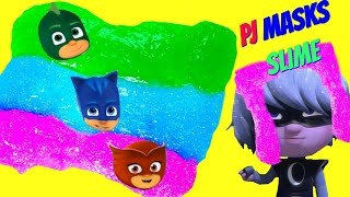 Download Make Your Own PJ Masks SLIME! DIY Easy Glitter Rainbow Slime Clay! Video