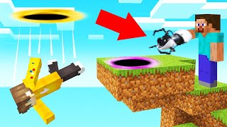 Download Using A PORTAL GUN In MINECRAFT! (Trolling) Video