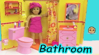 Download American Girl Doll Room - Shower, Brush Teeth, Surprise Blind Bags Toy Video Video