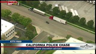 Download WHAT JUST HAPPENED: Did CA police chase suspect make car switch? (FNN) Video