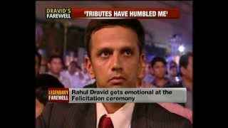 Download Rahul Dravid retirement felicitation by BCCI @ NewsX Video