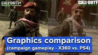 Download Modern Warfare Remastered graphics comparison - full game (X360 vs. PS4) Video
