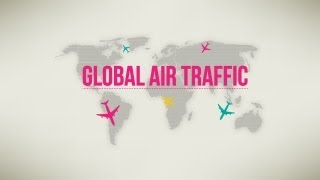 Download Global Air Traffic-Animated Infographic Video