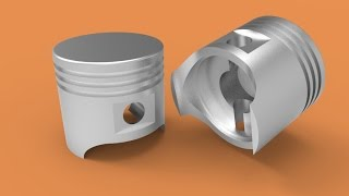 Download Making a piston in AutoCAD 3D Video