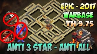 Download Clash of clans - New (TH 9.75) Townhall 9.5 Warbase | Anti 3 star | Anti all | Tested + Proof Video