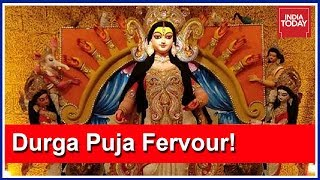 Download Unique Durga Puja Pandal Made Entirely Of 4000 Kgs Of Turmeric! Video