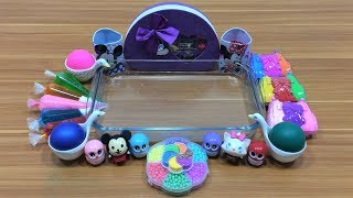 Download Mixing Random Things Into Clear Slime #6   Relaxing Satisfying Slime   Mickey Slime Video