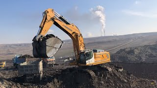Download Liebherr 976 Excavator Loading Trucks With Two Passes - Labrianidis SA Video