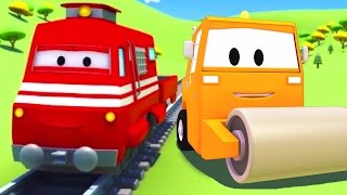Download Troy el Tren y la Aplanadora en Auto City | Dibujos animados para niños Video
