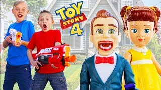 Download Toy Story 4 Toys Are Missing! Gabby Gabby & Bensen Plays Tricks on Kids Fun TV! Video