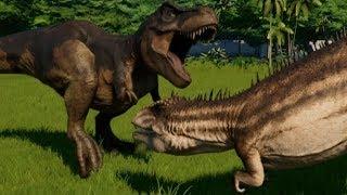 Download Carcharodontosaurus vs T-Rex, Indominus Rex, Indoraptor, Spinoraptor, Giganotosaurus, Spino & Allo Video