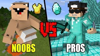 Download Extremly STUPID Noobs VS. EPIC Pros - Minecraft Video