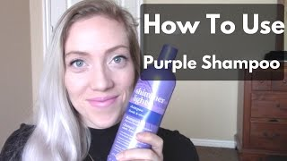 Download PURPLE SHAMPOO BEFORE AND AFTER Video