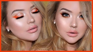 Download Spring GLITTER CUT-CREASE LINER & Glowy Spring Makeup Tutorial Video