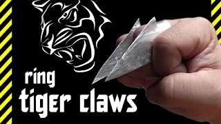 Download How to make a ring Tiger Claws. The horrific killer weapon hidden in your hand. Envy Freddy Krueger Video