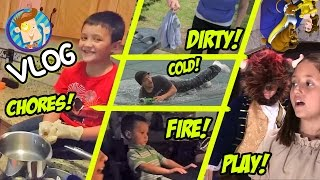 Download Winter Pool Roll / Dirty Lizard Underwear / Chores and Traptanium / School Play (Funnel Vision Vlog) Video