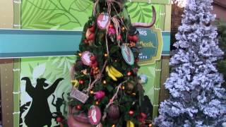 Download Disney Springs Christmas Tree Trail - New for 2016 Holiday Display - Disney World Video