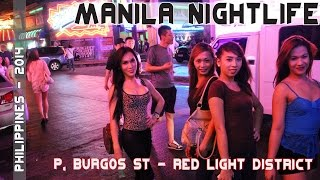 Download Manila Philippines Nightlife - Makati's P. Burgos Street Video
