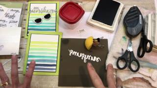 Download How to make a Ombre Watercolor Striped Background with Stampin Up's Pocket Full of Sunshine Video