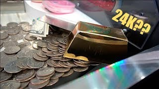 Download WINNING A GOLD BAR FROM THE COIN PUSHER!!! Video