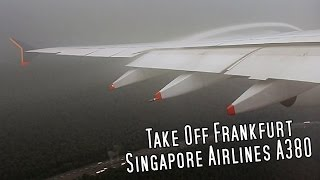 Download ✈Vortex!   Singapore Airlines Airbus A380 Take off Frankfurt (FRA)   Foggy weather✈ Video
