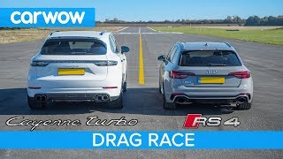 Download Porsche Cayenne Turbo vs Audi RS4 DRAG RACE - see which is quickest Video
