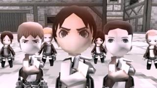 Download Gurren no Yumiya (Attack on Titan OP) Aot tribute game MV 红莲の弓矢op1巨猎版 Video