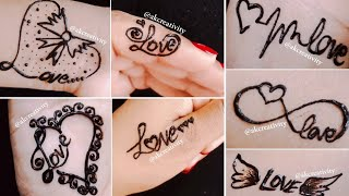 Download 7 beautiful love tattoo ideas|| Love tattoo mehndi designs Video