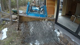 Download Filling gravel around a new building Video