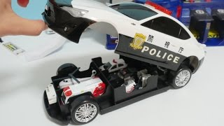 Download Big police car toy Toyota 86 & police station toys video for children Video