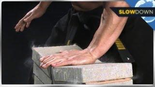 Download Ninja Breaks Bricks in Slow Motion Video