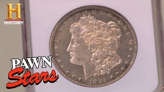 Download Pawn Stars: Extremely Rare 1895 Morgan Dollar | History Video