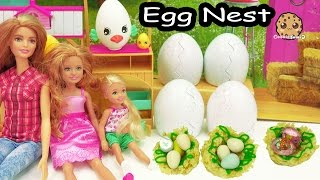 Download Cooking Fun - Chocolate Shopkins Eggs In Rice Krispy Marshmallow Treat Bird Nest with Barbie Video