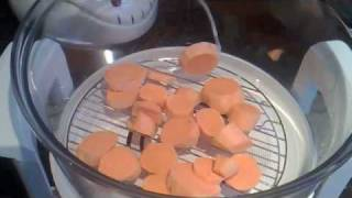 Download Halogen Oven cooking chicken dinner Video