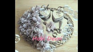 Handmade Engagement Ring Tray Decoration Diy Wedding Tray