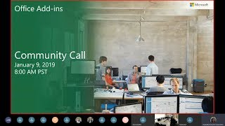 Download Office Add ins community call-January 2019 Video