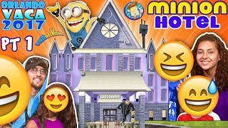 Download MINIONS HOTEL TOUR! Coolest Room Ever!! Savage Dad @ Universal Studios Resort (FUNnel Summer FL #1) Video