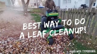 Download How To Do A Leaf Clean Up Quickly and Efficiently! Video