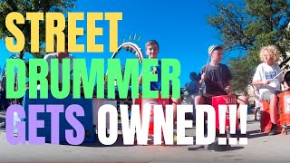 Download 5th graders upstage street drummer @ US Coast Guard Festival Grand Haven MI Video